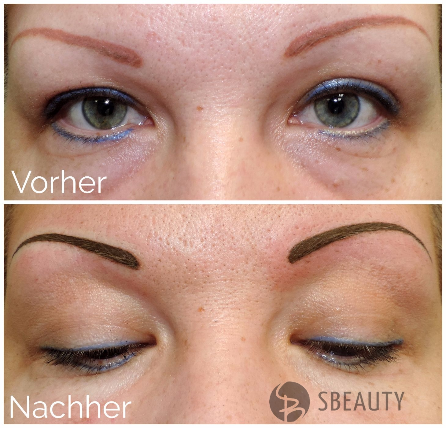 Permanent Make-Up vollschattierung  - Form nach Kundenwunsch.