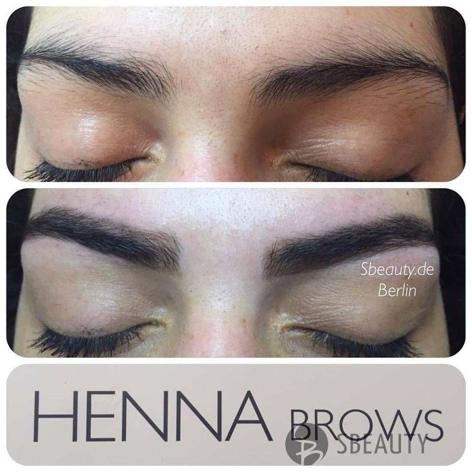 Augenbrauenkorrektur mit Henna Farbe  - Augenbrauenfärbung und Korrektur mit Tattoo-Effekt – Brow Henna ?  Brow Henna ist eine natürliche Henna für Augenbrauen mit Tattoo-Effekt. Sie färbt die Augenbrauen und die Haut, welche sich zwischen den Härchen befindet und sorgt damit für ein dauerhaftes Ergebnis, welches bis zu sechs Wochen anhält. ( je nach Hauttyp ) . Auf Haut Henna hält bis max 2 Wochen , auf härschen 4-6 Wochen. Gleichzeitig werden ihre eigenen Augenbrauen durch die natürlichen Substanzen gepflegt und gestärkt. Mit jeder Behandlung werden die Härchen gesünder, fester und glanzvoller. Auch für Allergiker, Schwangere und stillende Mütter ist diese Henna bestens geeignet. ?Vorteile:? ✅1. Absolut harmlose natürliche Prozedur. ✅2. Löst keine Allergien aus ✅3. Auf Wasserbasis, ohne Ammoniak. ✅4. Auch für schwangere Frauen geeignet ✅5. Sie können die Augenbrauenform variieren ✅6. Schädigt nicht die Haut und Haarstruktur ✅7. Regeneriert die Augenbrauenstruktur ✅8. Korrigiert die Asymmetrie der Augenbrauenform ✅9. Hilft eine stabile Farbe und langwierigen Effekt gepflegter Augenbrauen zu erreichen ✅10. Stimuliert den Haarwachstum