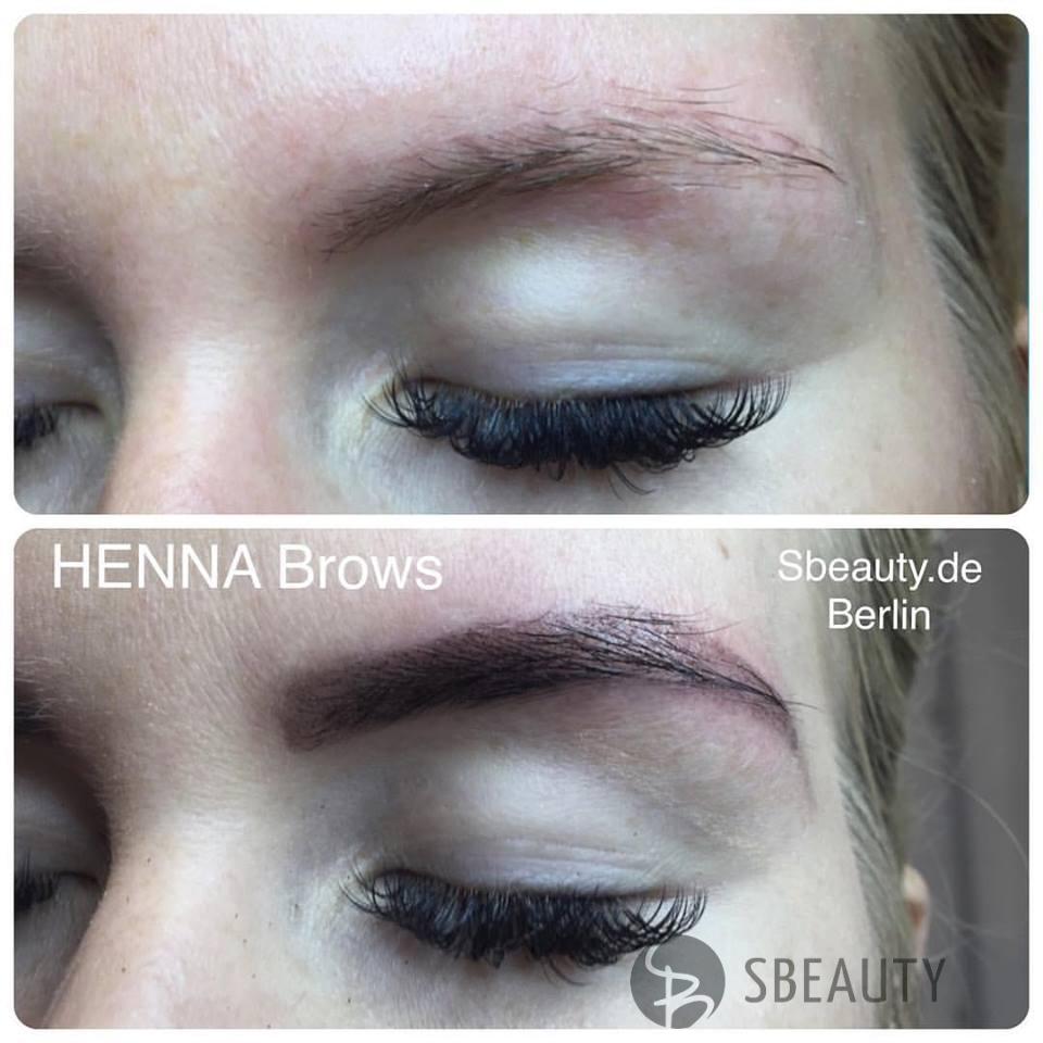 Augenbrauenkorrektur  mit Henna Farbe